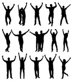 Fototapety Excited People Silhouettes