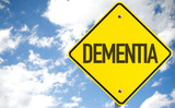 Dementia sign with sky background
