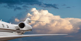 Side view of a private jet in flight - Fine Art prints