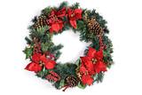Fototapety Christmas Holiday Wreath Isolated On White