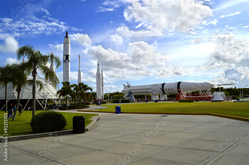 In de dag Nasa Cape Canaveral, Florida, USA - May 6, 2015: Apollo rockets on displayin the rocket garden at Kennedy Space Center