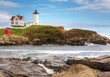 Nubble Light in Maine on a sunny day
