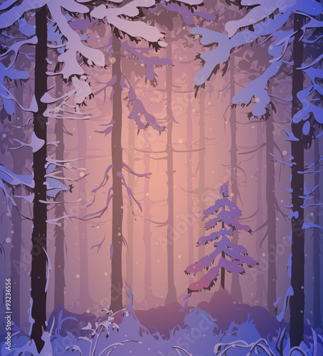 Panel Szklany winter