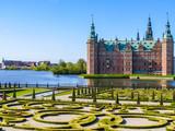 Park i pałac Frederiksborg Slot, pałac w Hillerod, Dania