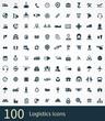 logistics 100 icons universal set