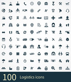 logistics 100 icons universal set