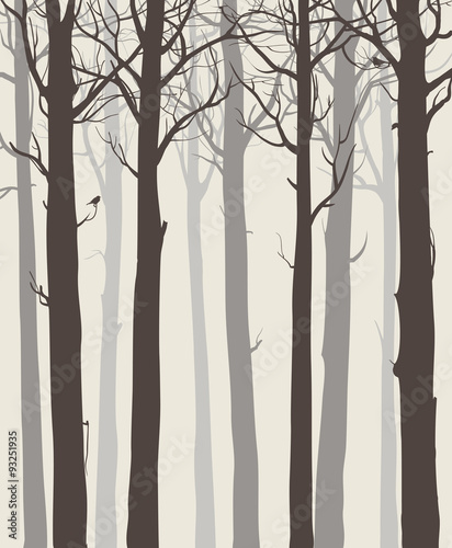 Panel Szklany tree