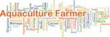 Aquaculture farmer background concept poster
