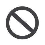 blank ban Symbol icon