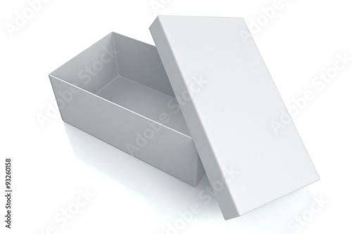 White open shoe box isolated on white
