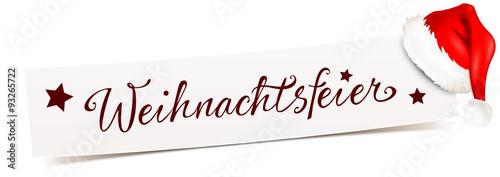 """""""Banner mit Mütze - Weihnachtsfeier"""" Stockfotos und lizenzfreie Vektoren auf Fotolia.com - Bild ..."""
