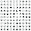 health 100 icons universal set