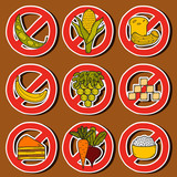 Paleo diet stickers