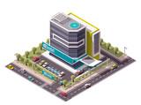 Fototapety Vector isometric hospital