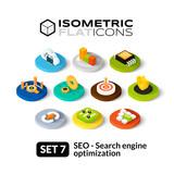 Fototapety Isometric flat icons set 7