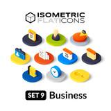 Fototapety Isometric flat icons set 9