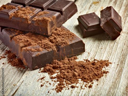 słodki deser czekoladowy