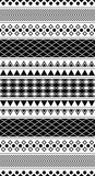 Black and white geometric pattern - 93336927