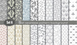 Fototapety Vector damask seamless pattern background.pattern swatches included for illustrator user, pattern swatches included in file, for your convenient use.