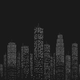 City Skyscraper Vector Pattern