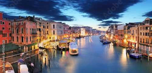 Panorama of Venice from Rialto bridge Poster