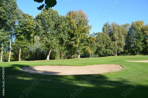 Poster Golfplatz im Herbst