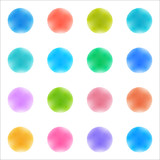 Fototapety Vector Background #Watercolor texture_Polka Dots