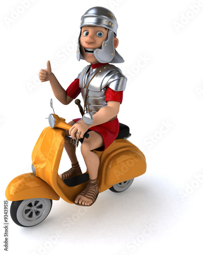 Foto op Canvas Scooter Fun roman soldier