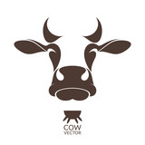Cow. Isolated animal on white background
