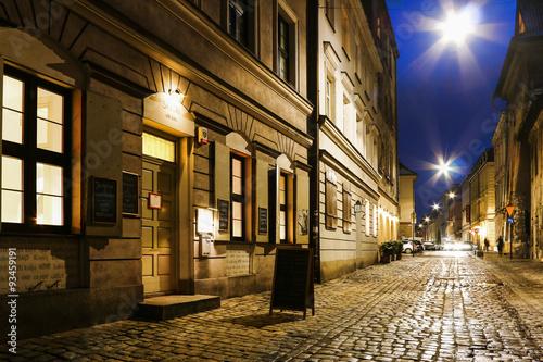Fototapeta Kazimierz, former jewish quarter of Krakow, Poland.