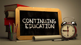 Hand Drawn Continuing Education Concept on Chalkboard. - 93459964