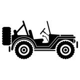 Icono plano jeep lateral