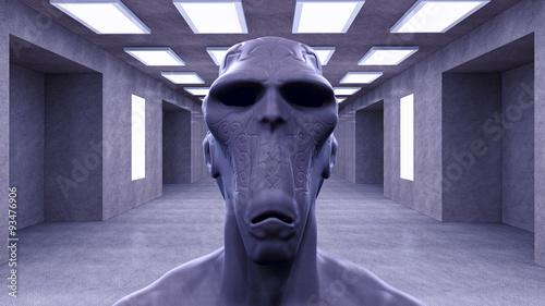 Foto op Canvas 3d alien portrait