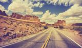 Vintage retro droga przez pustynię, USA.