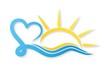 Постер, плакат: Логотип солнце и море