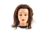 Mannequin head on a white background