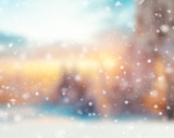 Abstract blur winter background