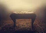 Manger at night under fog