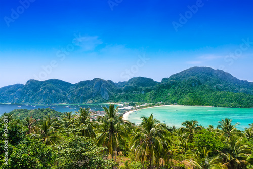 Poster Travel vacation background - Phi-Phi island, Thailand, Asia