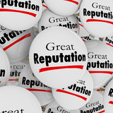Great Reputation Buttons Pins Credibility Trustworthy poster