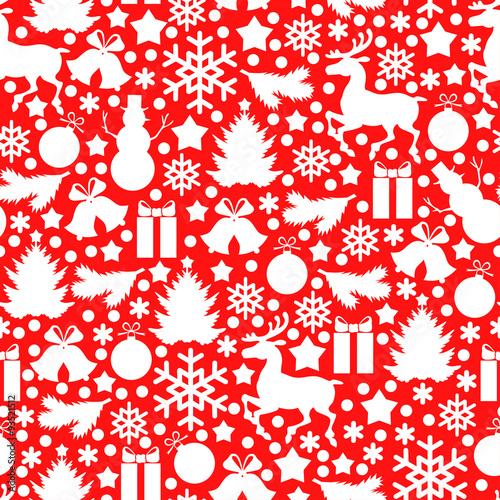 Fototapeta Christmas pattern seamless