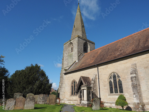 Poster St Mary Magdalene church in Tanworth in Arden