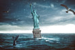 Statue of Liberty sinks in the ocean