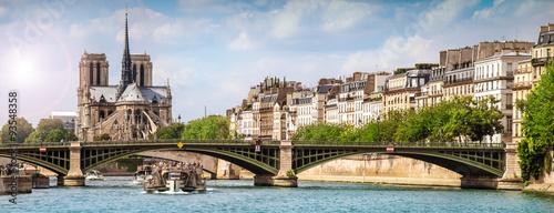 vista della Senna e di Notre Dame dal battello - 93548358