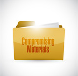 Compromising materials folder sign poster