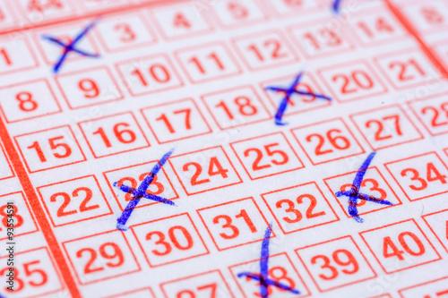 Ausgefüllter Lottoschein плакат