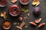 Fig jam autumn still life