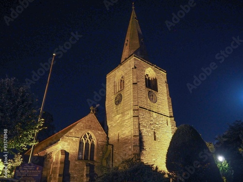 Poster St Mary Magdalene church in Tanworth in Arden at night