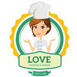 Detaily fotografie cooking logo,chef logo,restaurant logo,women talking,People Talking