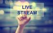 Hand pressing Live Stream